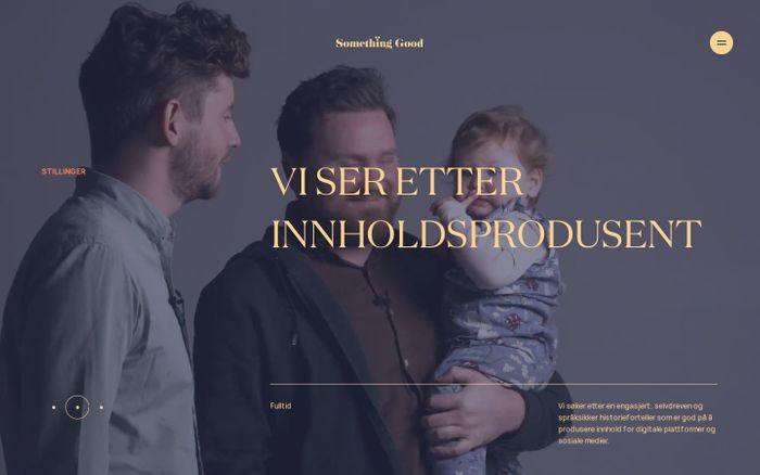 Screenshot of Something Good website