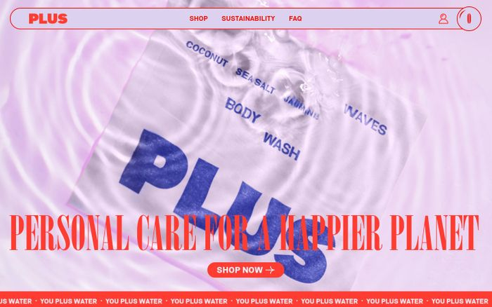 Screenshot of Plus website