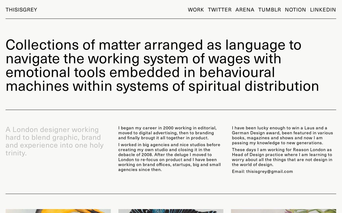 Screenshot of ThisisGrey website