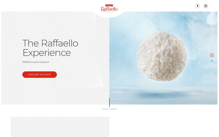 Screenshot of Raffaello | Home