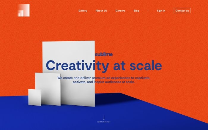 Screenshot of Creativity at scale | Sublime