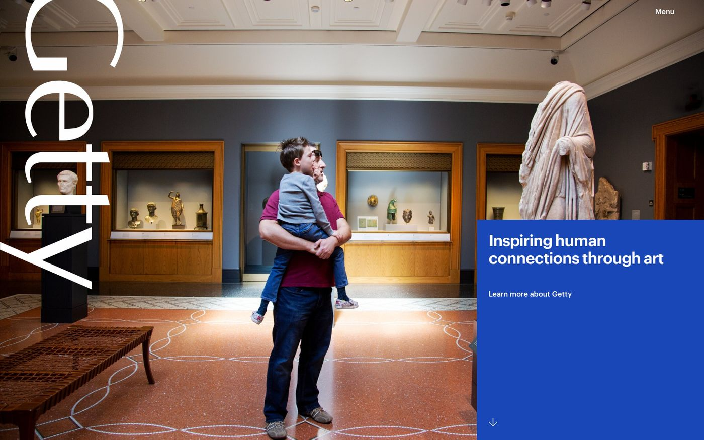 Screenshot of Getty: Resources for Visual Art and Cultural Heritage website