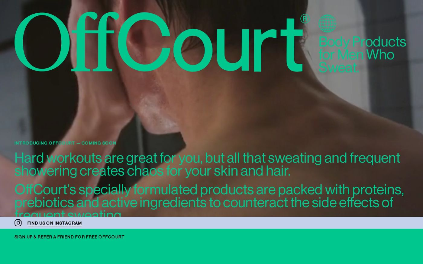 Screenshot of OffCourt website