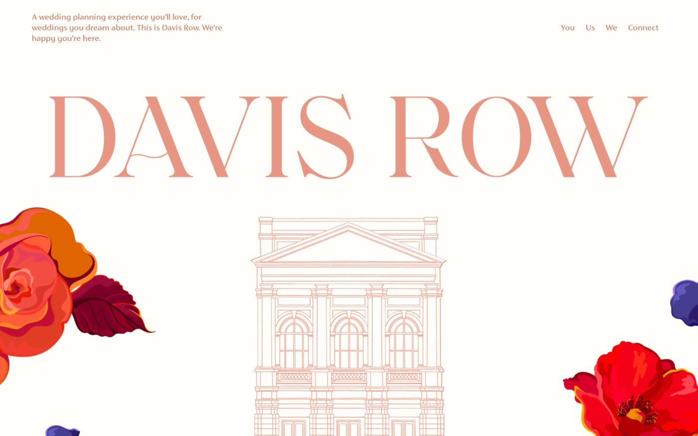 Screenshot of Davis Row website