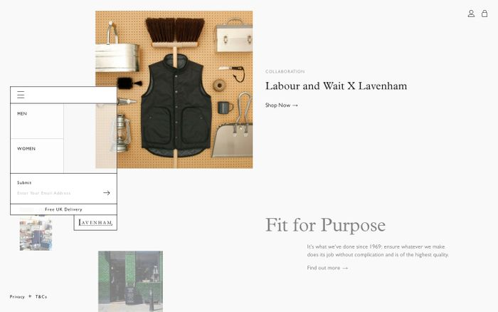 Screenshot of Lavenham Jackets | Quilted Mens and Womens Jackets