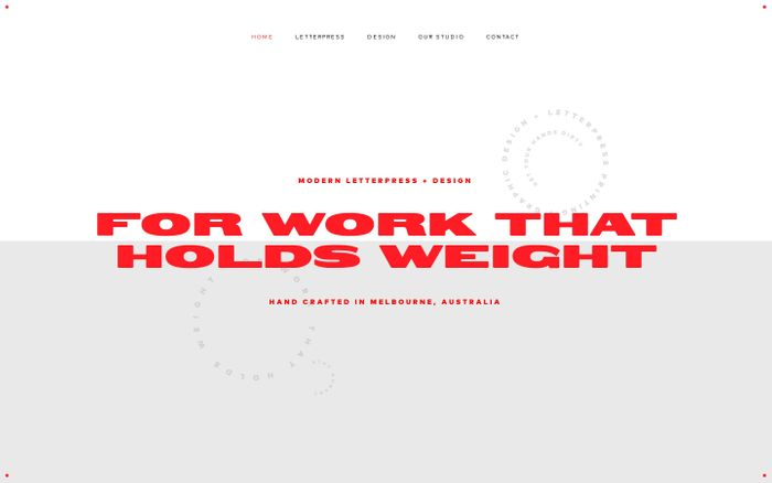 Screenshot of Letterpress and Design – The Hungry Workshop