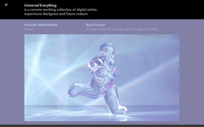 Screenshot of Universal Everything website