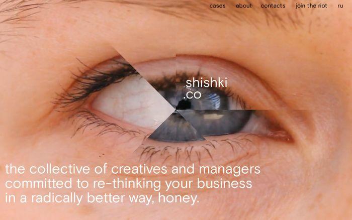 Screenshot of shishki.co