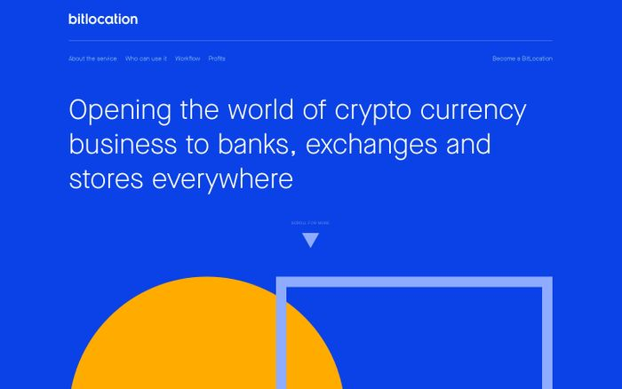 Screenshot of BitLocation - Opening the world of crypto currency business to exchanges and stores everywhere