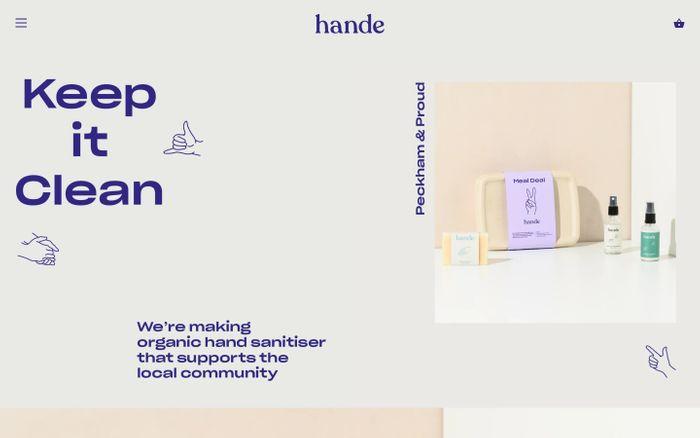 Screenshot of Hande website