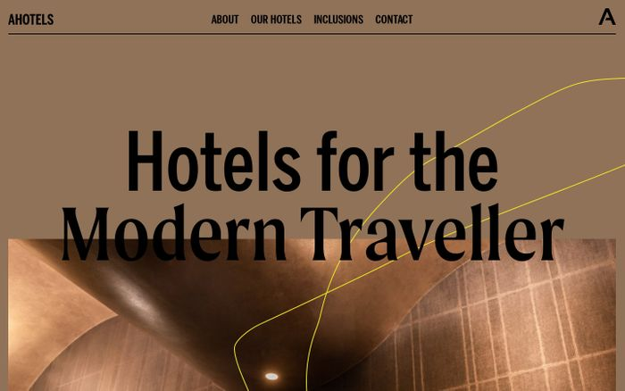 Screenshot of  Ahotels website