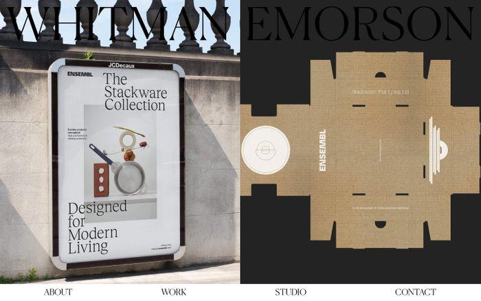 Screenshot of Whitman Emorson website