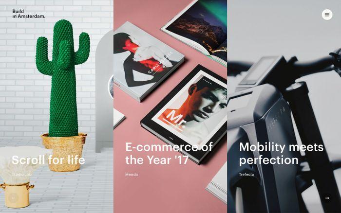 Screenshot of Build in Amsterdam - Strategy, branding & e-commerce