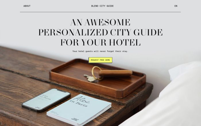 Screenshot of Blend City Guide website