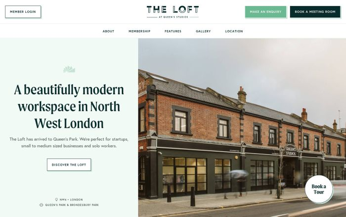 Screenshot of Co-working & Flexible Office Space Queen's Park | The Loft