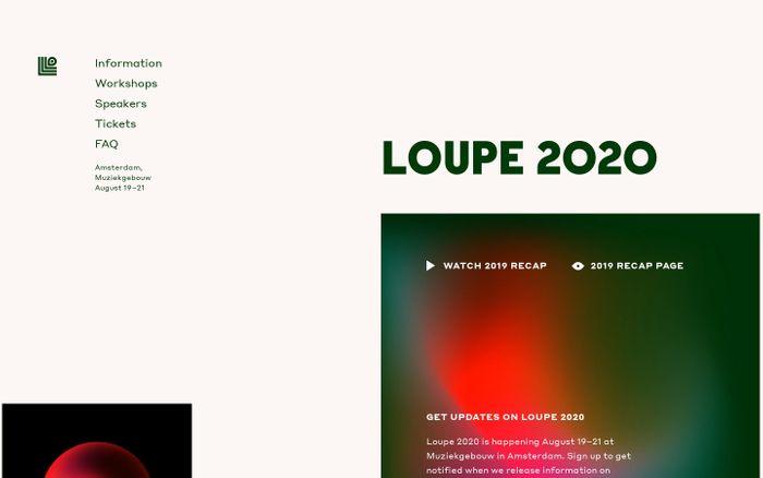 Screenshot of Framer - Loupe 2020
