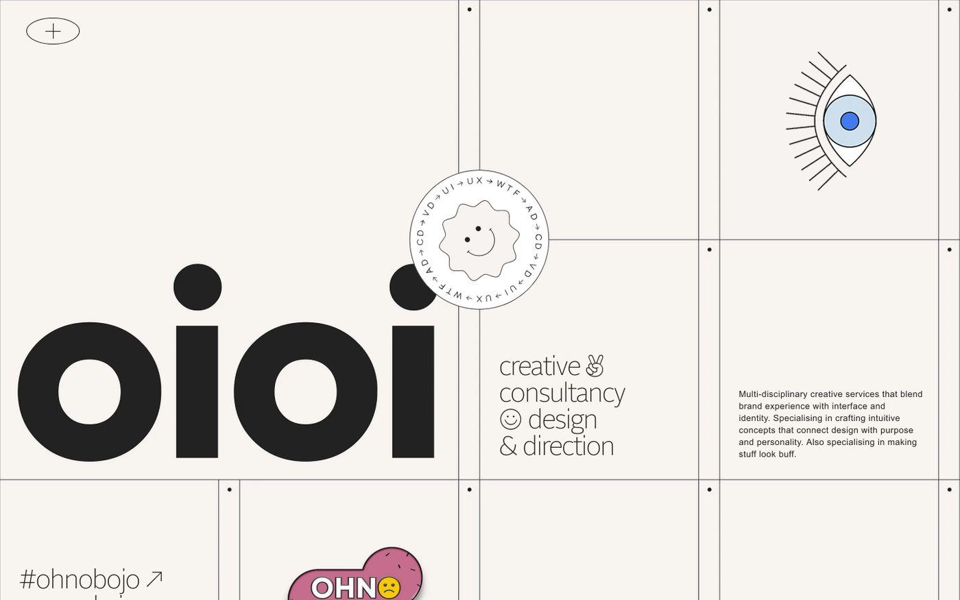 Screenshot of Oioi website