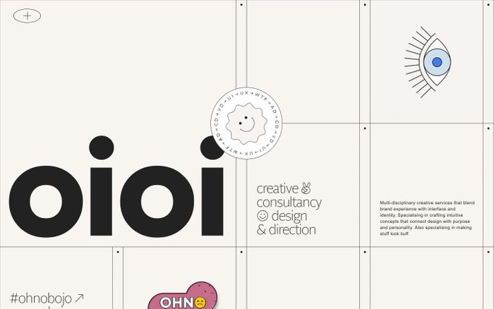 Screenshot of Oioi website