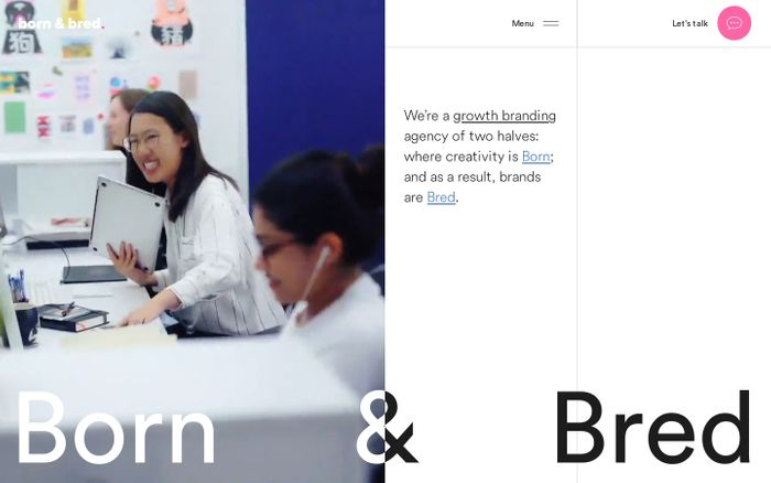 Screenshot of Born & Bred website