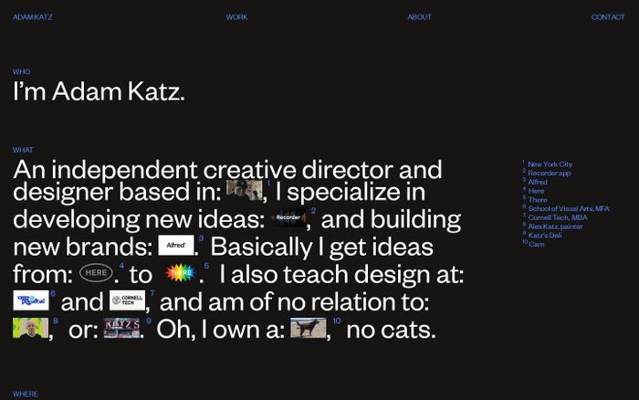 Screenshot of Adam Katz