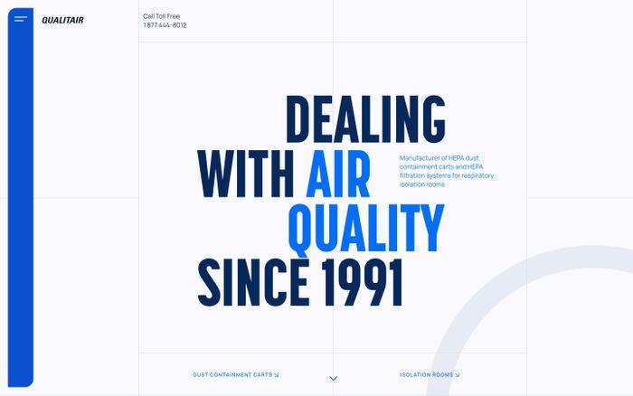 Screenshot of Qualitair website