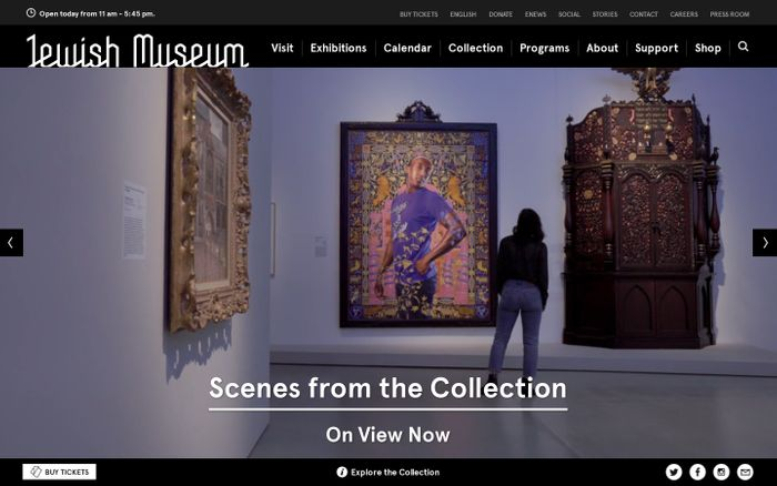 Screenshot of The Jewish Museum - Home