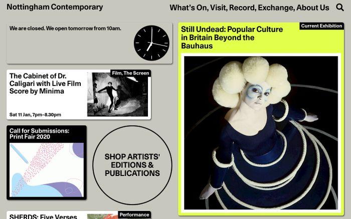 Screenshot of Nottingham Contemporary | Nottingham Contemporary