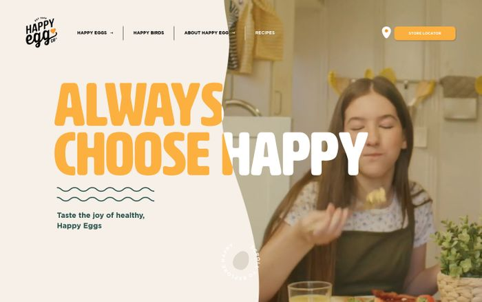 Screenshot of Free Range Eggs | Always Choose Happy