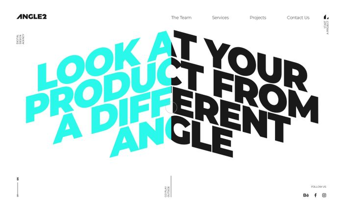 Screenshot of Angle2 | Design Agency