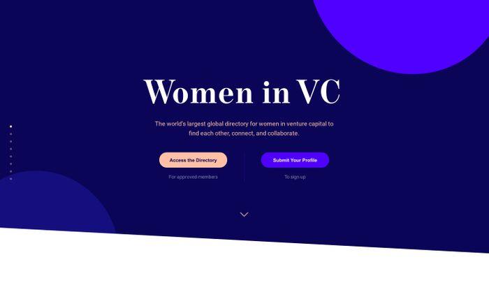 Screenshot of  Women in VC