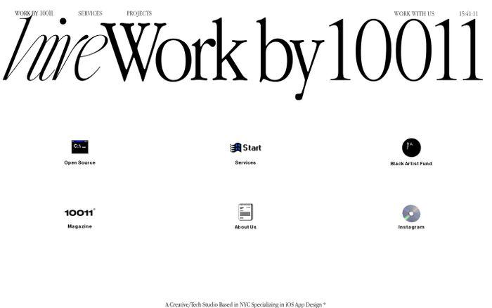 Screenshot of 10011 NYC website