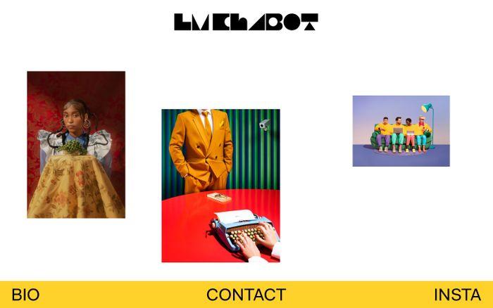 Screenshot of LM Chabot website