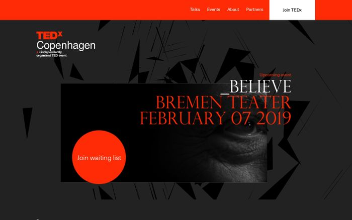 Screenshot of TEDxCopenhagen - Ideas worth spreading