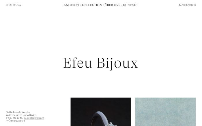 Screenshot of EFEU BIJOUX