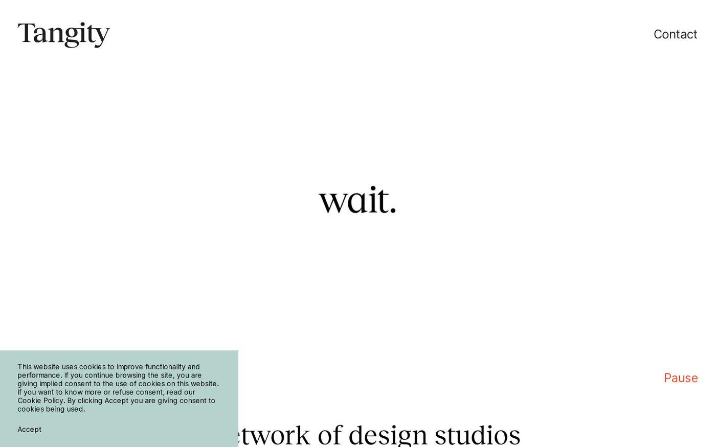 Screenshot of Tangity website