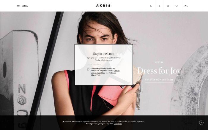 Screenshot of Akris Designer Luxury Clothing Handbags And More – Akris EU
