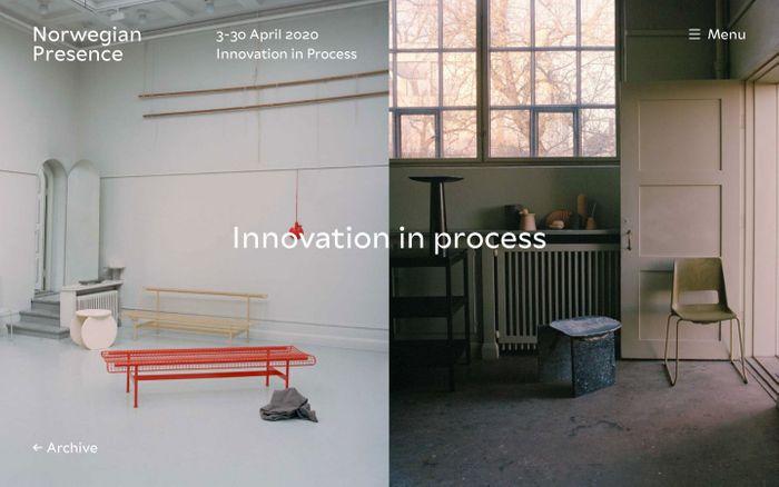 Screenshot of Innovation in Process | Norwegian Presence