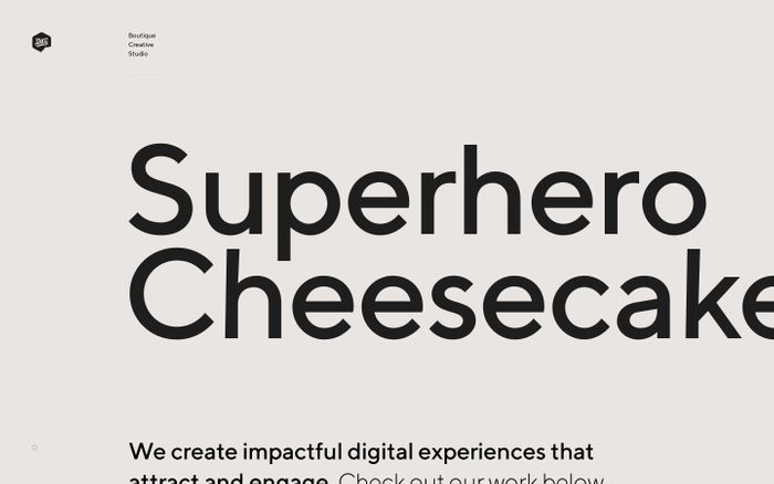 Screenshot of Superhero Cheesecake website