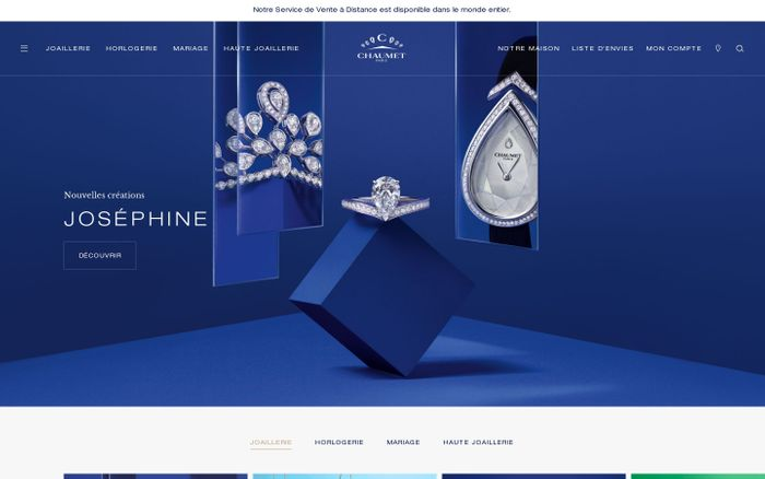 Screenshot of Chaumet website