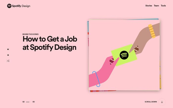 Screenshot of  Spotify Design
