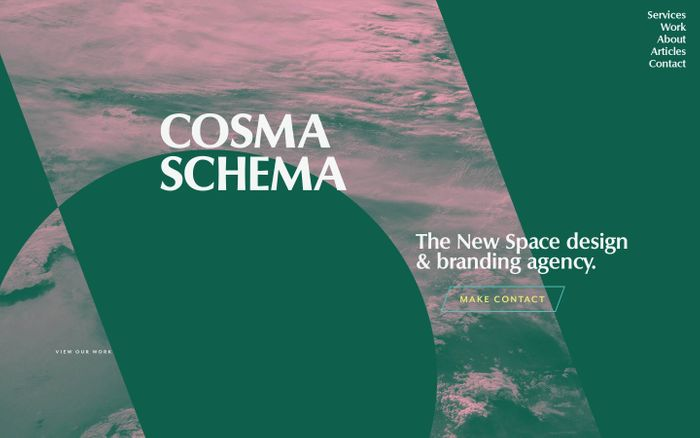 Screenshot of Cosma Schema • The New Space design & branding agency.