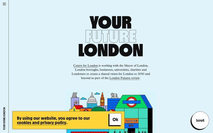 Screenshot of Your Future London website