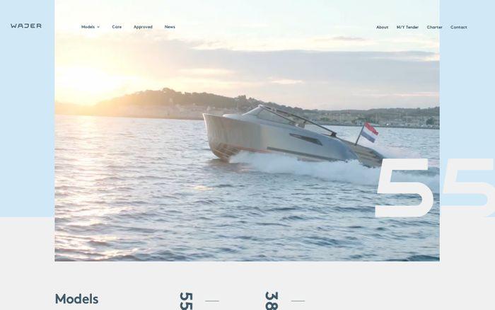 Screenshot of Wajer Yachts website