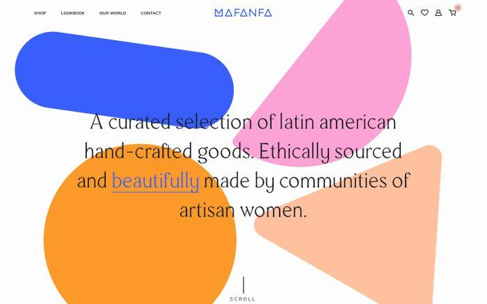 Screenshot of Mafanfa website