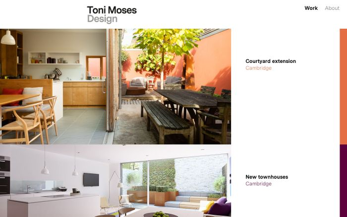 Screenshot of Toni Moses website