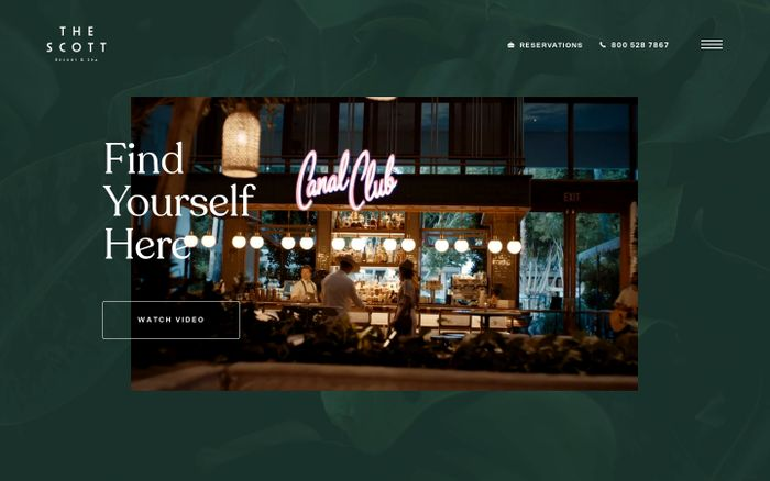 Screenshot of Scott resort & spa website