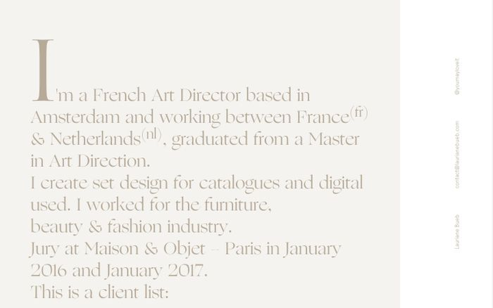 Screenshot of Lauriane Bueb website