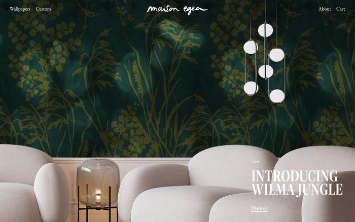 Screenshot of Maison Egea website