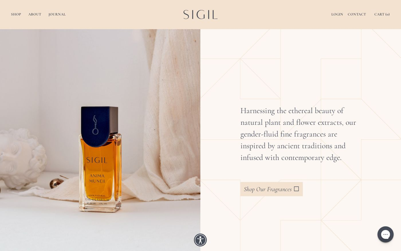Screenshot of Sigil website