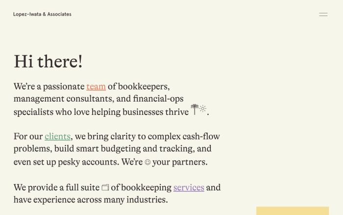 Screenshot of Lopez-Iwata website